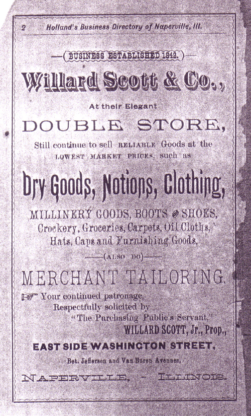Willard Scott Ad, 1886