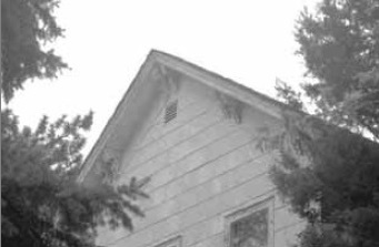 Italianate Gable of Biggins Farm House