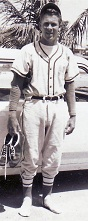 Bill in baseball uniform