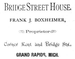 Ad for Bridge Street House