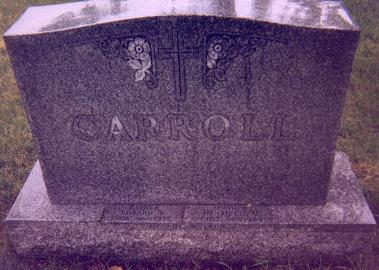 Tombstone for David and Emma Carroll