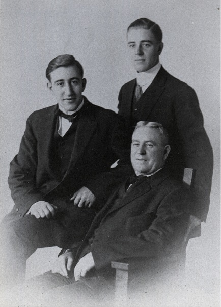 Cris J. Smith and sons Karl (standing) and LeRoy