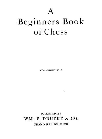 Drueke Chess Book