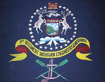 Flag of the 1st Michigan Regiment, Engineers and Mechanics