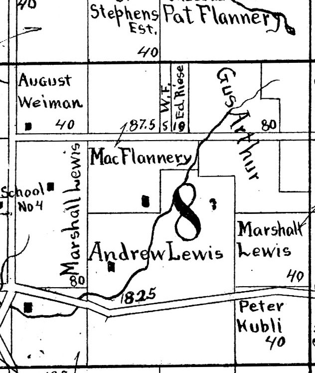 Jordan Township, Sections 5 (partial) and 8