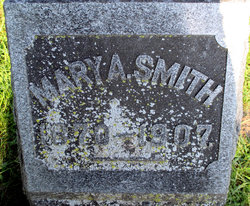 Mary A. Smith tombstone