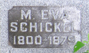 Tombstone for M. Eva Schickel