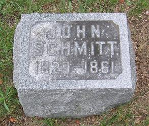 Tombstone for John Schmitt